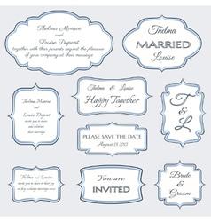 frames for wedding invitation cards vector image