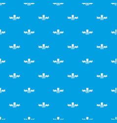 Gmo free label pattern seamless blue vector