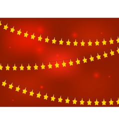 Golden Christmas Stars vector image