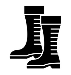 Gumboots icon black sign on vector