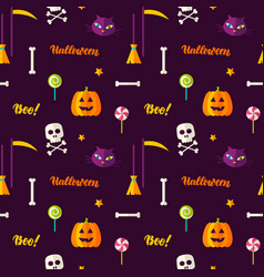 Halloween print seamless pattern vector