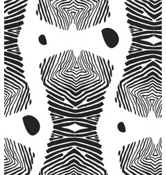 hand made abstract graphic seamless pattern vector image