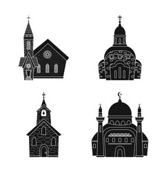 House and parish sign set vector