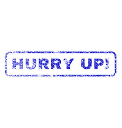 Hurry up exclamation rubber stamp vector