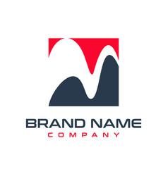 initial logo design m vector image