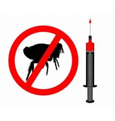 inoculation against fleas vector image