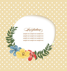 invitation template paper cutout frame and floral vector image