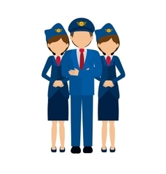 Isolated pilot and stewardess design vector