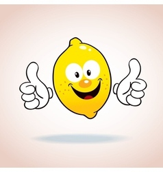 lemon mascot cartoon character vector image