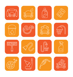 line car wash objects and icons vector image