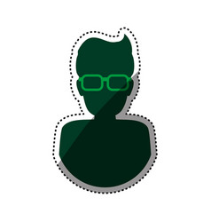 Man male silhouette glasses vector