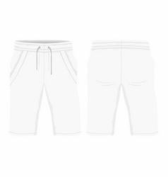 mens white sport shorts vector image vector image