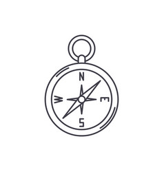 navigation compass line icon concept navigation vector image