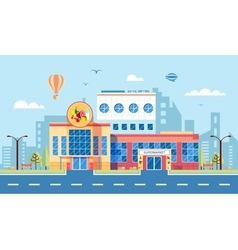 Nice supermarket 1 vector image