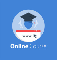Online education internet course vector