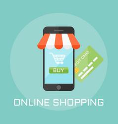 online shop flat design style vector image