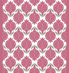 Pattern with pink pomegranates vector