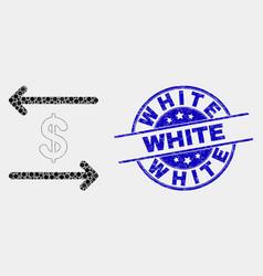 pixelated dollar exchange arrows icon and vector image