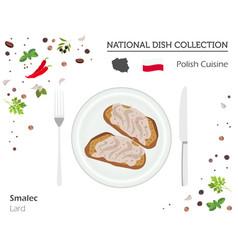 polish cuisine european national dish collection vector image