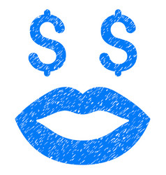 Prostitution smiley grunge icon vector