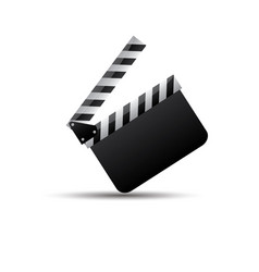 realistic clappercinemaboard on a white vector image