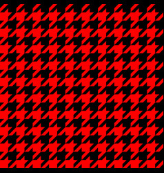 retro red and black houndstooth pattern vector image