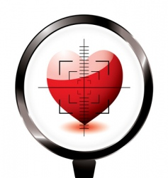 rifle target heart icon vector image