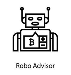 Robo advisor vector