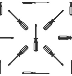 Screwdriver icon seamless pattern on white vector