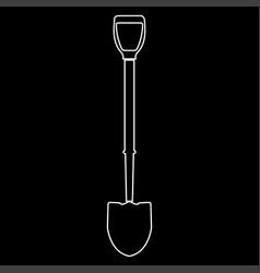 Shovel white color path icon vector