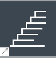 Stairs thin line icon vector