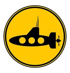 Submarine icon vector
