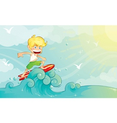 surf boy vector image