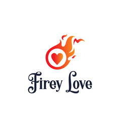 t shirt design with firey love message vector image