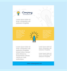 template layout for idea comany profile annual vector image