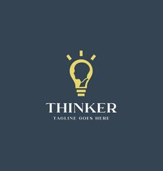 thinker logo vector image