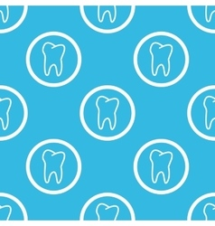 Tooth sign blue pattern vector