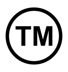 Trademark Symbol Icon vector