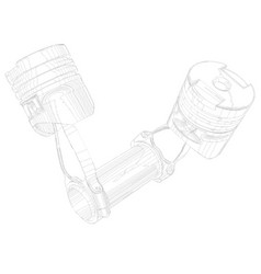 Two pistons on a white background vector