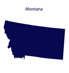 United states montana dark blue silhouette the vector