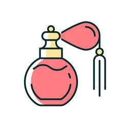 Vintage perfume with pump rgb color icon vector