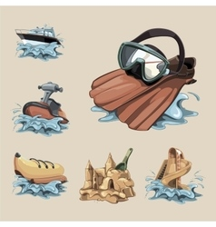water game vector image