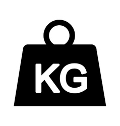 weight kilogram isolated icon vector image