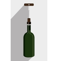 Wine drink graphic design with icons vector image