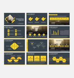 Yellow abstract presentation templates vector