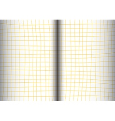 Yellow Mustard Grid White Background open book vector image