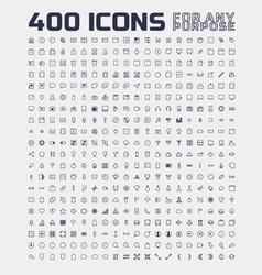 400 Universal Icons for Any Purpose vector image vector image