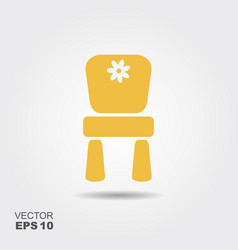 chair for children flat icon vector image