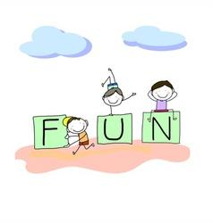hand drawing cartoon character happy kids vector image