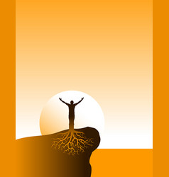 inspiritional well grounded person vector image vector image